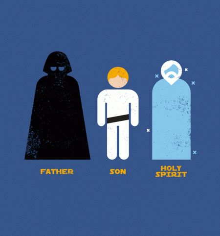 Father, Son, Holy Spirit - BustedTees - Image 0
