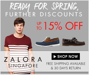 Get 15% discount on your total cart value of $85 and above. Apply Zalora coupon code when you are making the final payment...