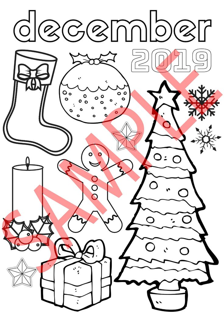 December 2019 Seasonal Colouring Page Home Education