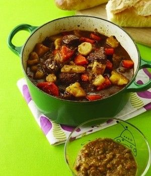 Easy and Quick Beef Stew with Potatoes, Carrots and Parsnips