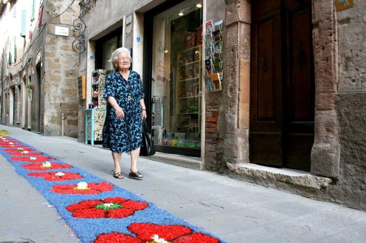 The Pitigliano flower festival in Maremma Tuscany Italy