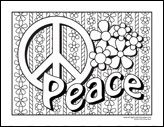 Printable Coloring Pages Peace Hearts | yelp free printable stick figure people large printable peace sign ...