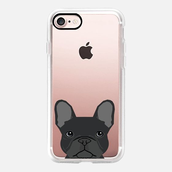 French Bulldog black fur coat cute bulldog frenchie unique pet gifts for dog lover valentines day dogs - Classic Grip Case