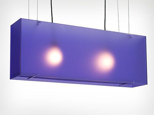 Blauwe lamp
