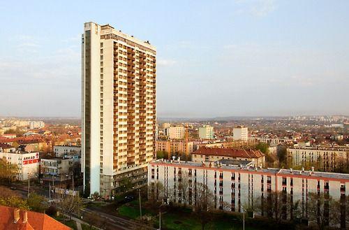 """Hungary, Pécs, Magasház (""""Tall House"""") 1976"""