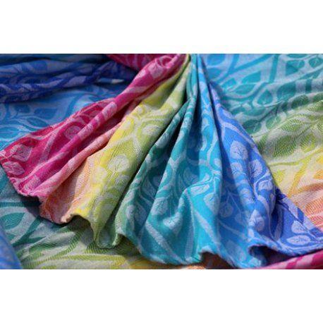 Žakárový šátek na nošení dětí Yaro La Vita Dash Grad Bouretteve složení 60% bavlna a 40% buretové hedvábí. V případě zájmu o tento šátek napište email na monika@satkomanie.cz