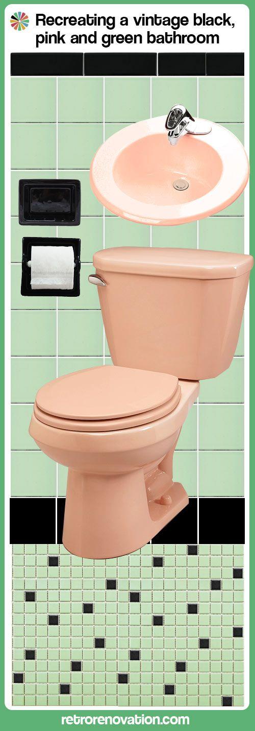 Best 25 mint green bathrooms ideas on pinterest mint for Green and black bathroom ideas