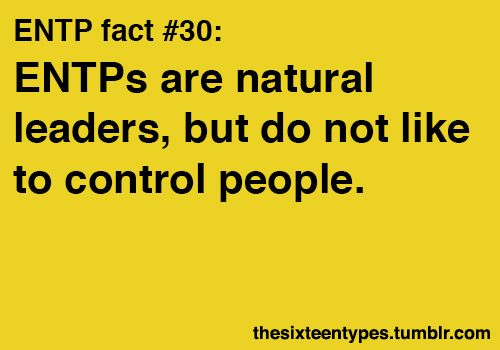 I don't know about being a natural leader....but it is true that I don't really like to control people.
