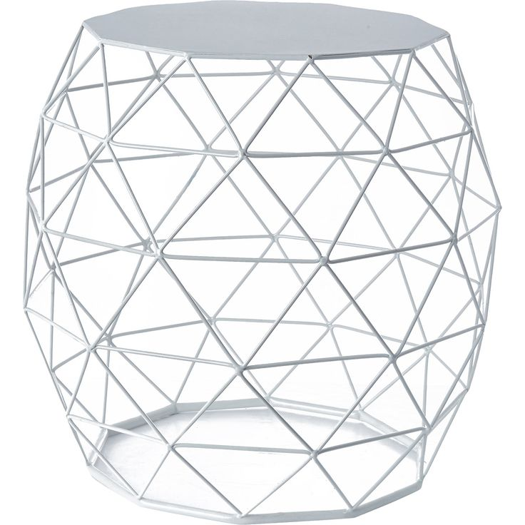 White Wire Side Table - TK Maxx