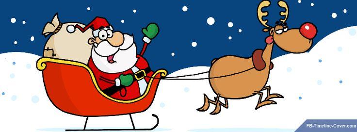 Christmas Santa And Rudolph Cartoon