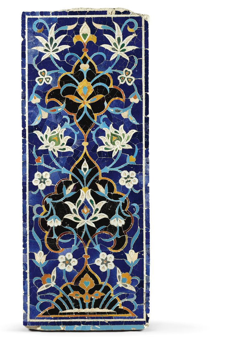 A MONUMENTAL TIMURID MOSAIC TILE PANEL WITH LOTUS BLOSSOMS, TRANSOXIANA, 15TH CENTURY