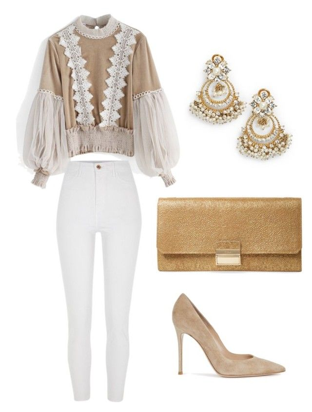 """""""Untitled #636"""" by mchlap on Polyvore featuring Chicwish, River Island, Gianvito Rossi, Furla and Marchesa"""