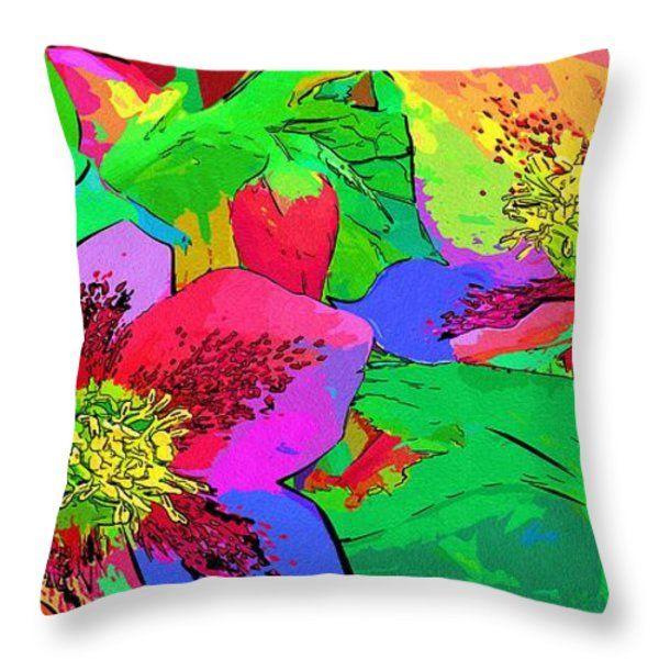 Art Paintings Of Flowers Throw Pillow #art #flowers