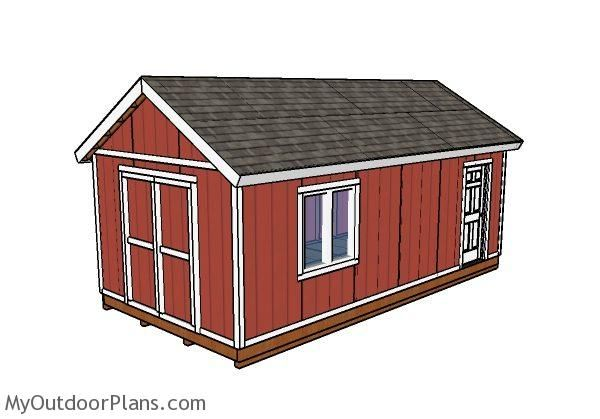 12x24 Shed Plans | MyOutdoorPlans | Free Woodworking Plans And Projects,  DIY Shed, Wooden