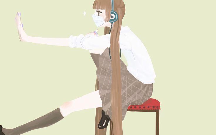 Animado Fukumenkei ruido Nino Arisugawa fondo de pantalla