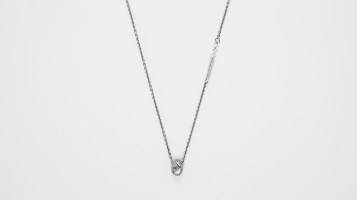 BJORG - Small Anatomic Heart Necklace in black silver (Gullsmed J. Gjertsen, Galleriet)