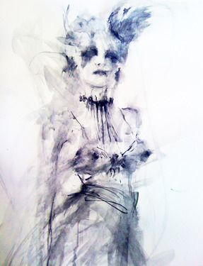 "Saatchi Online Artist Fiona Maclean; Painting, ""Gothic Queen - from the Beautiful Creatures series"" #art"