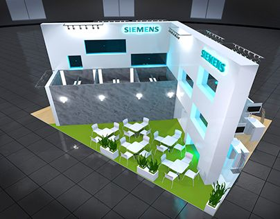 """Check out new work on my @Behance portfolio: """"Exclusive Siemens Exhibition Booth""""…"""