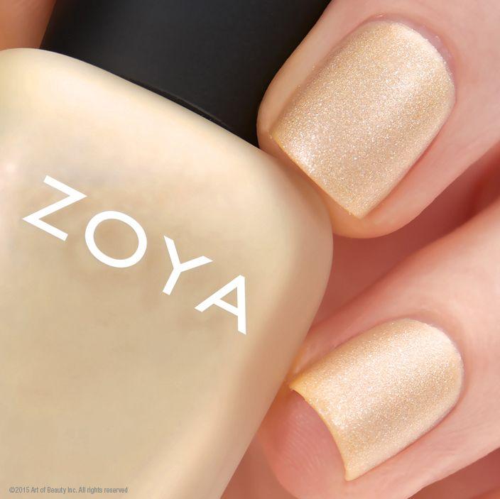 Sue by Zoya Nail Polish is a soft matte champagne gold