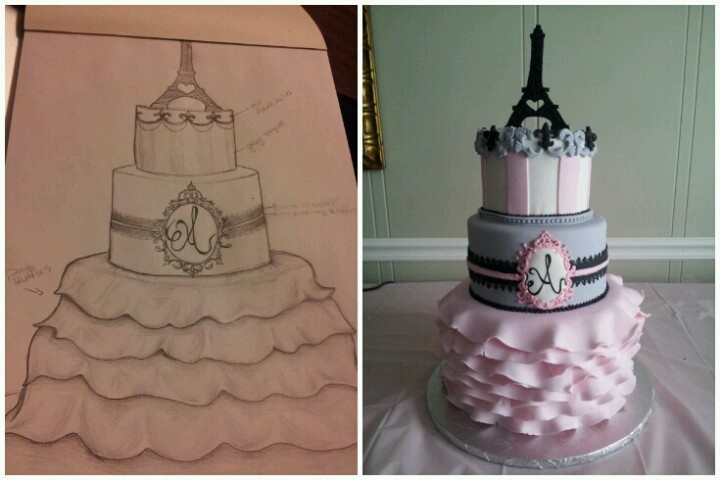 paris themed baby shower cake themed baby showers a j b s baby baby
