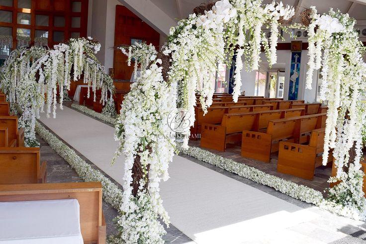 7 best wedding ceremonies images on pinterest wedding ceremony wedding ceremony church decoration wedding decoration floral garland hanging flowers white junglespirit Gallery