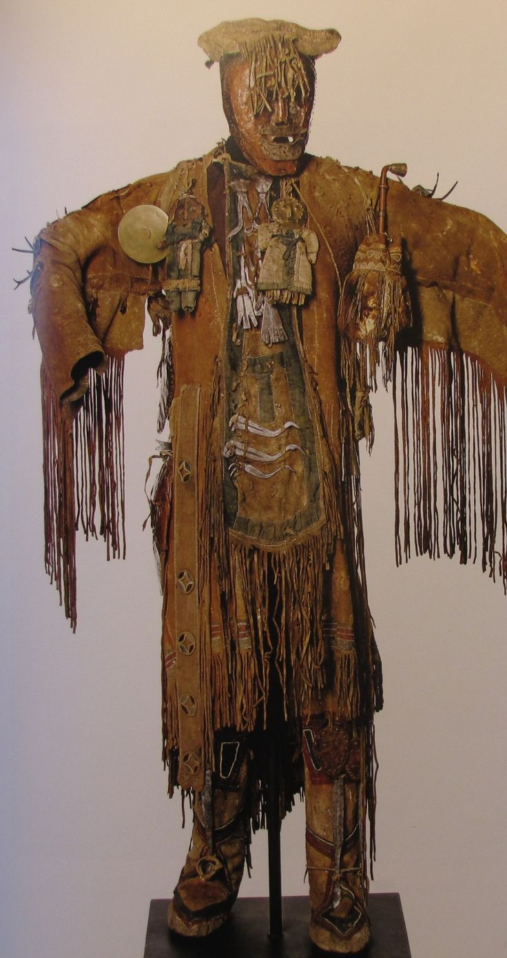 the shamans robe is made to hold the energy of him or her and his aliies. each trim, symbol and adornment has a meaning. It's a power object and it used to be the shamans only clothing. Today it is used for rituals only.