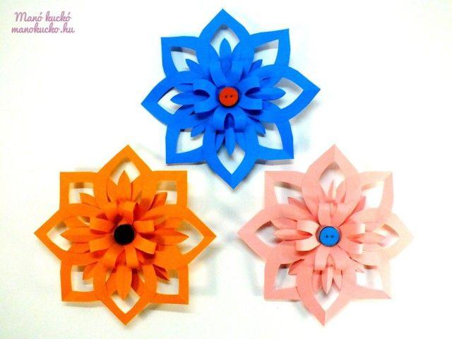 3D papír virág készítése - Manó kuckó