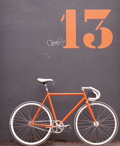 my future orange and white dream fixie