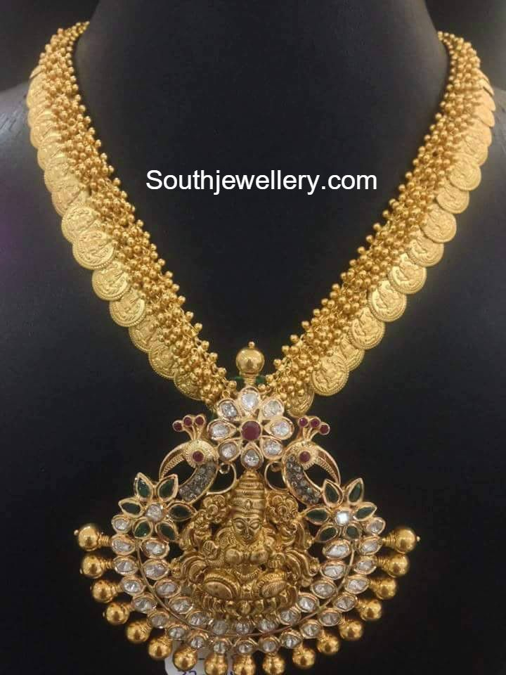Kasu Necklace with Lakshmi Pendant photo