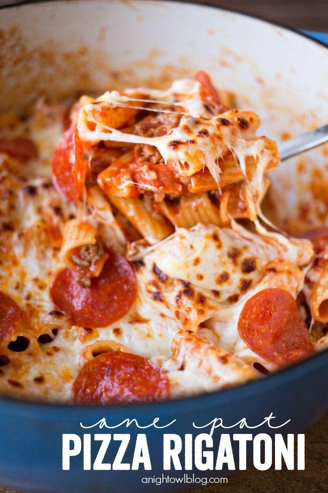 One Pot Pizza Rigatoni