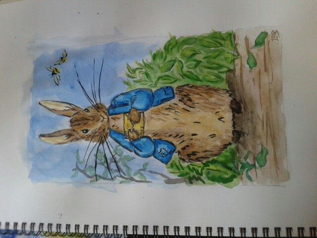 Peter Rabbit in watercolours by Juno Sophia Baumgarten