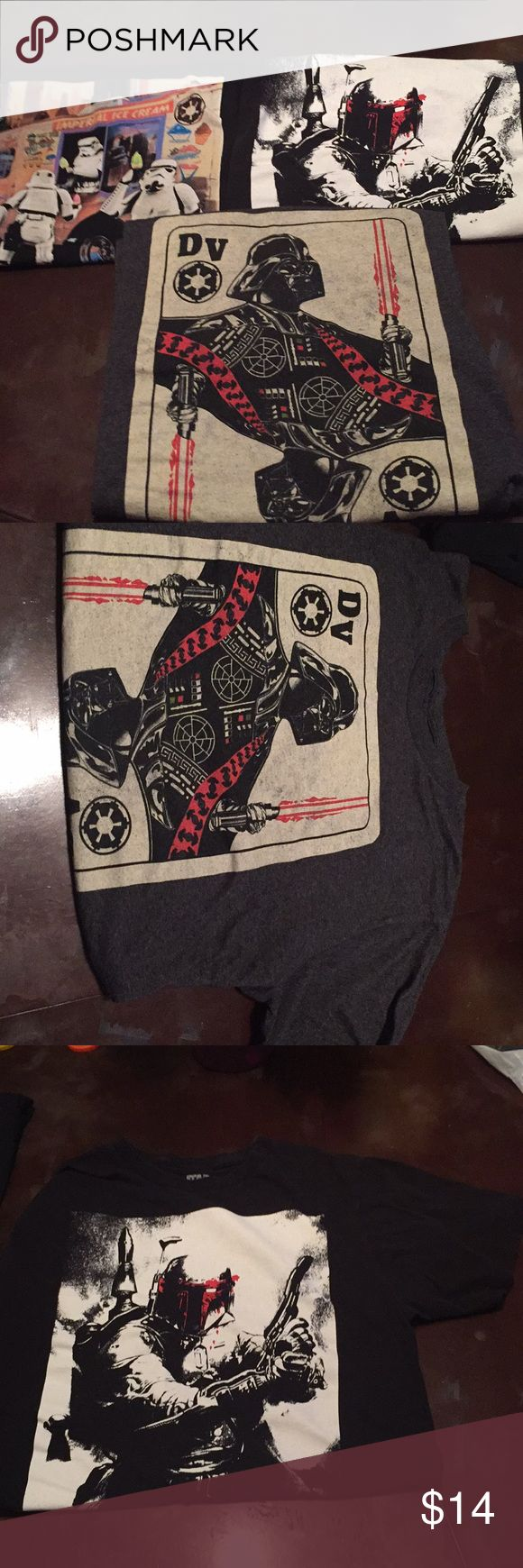 Bundle of 3 men's Star Wars shirts Bundle of 3 men's Star Wars shirts all size large storm trooper ice cream shirt has a pink spot on the side as seen in the photos Shirts Tees - Short Sleeve