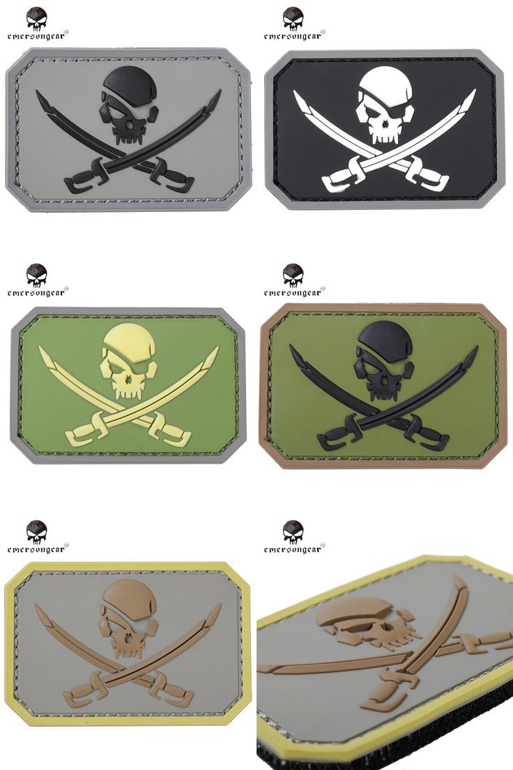[Visit to Buy] Emersongear Skull 3D PVC Patch Airsoft Tactical Pirate Captain  Paintball Military Skeleton Rubber Badge PVC Patch Custom  #Advertisement