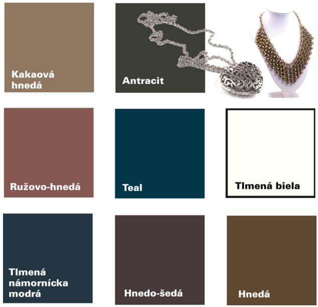 Farby - Neutrálne farby pre tlmený typ
