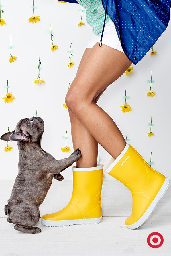 No need to fret April showers—these Tretorn rain boots will keep our paws  dry