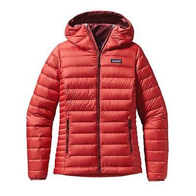 Patagonia Womens Down Sweater Hoody. Sumac Red