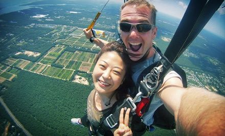 Groupon - $ 150 for a Tandem-Skydiving Experience for One at Skydive South Shore (Up to $ 249 Value) . Groupon deal price: $150.00