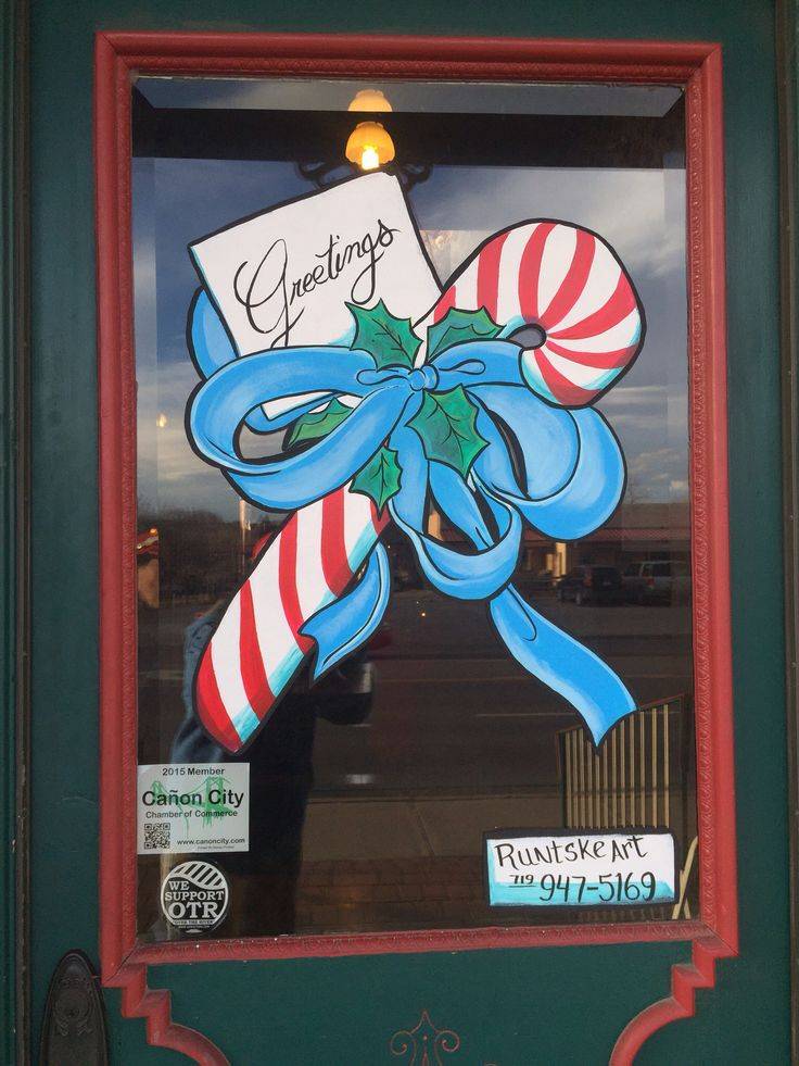 Candy Cane Window Painting