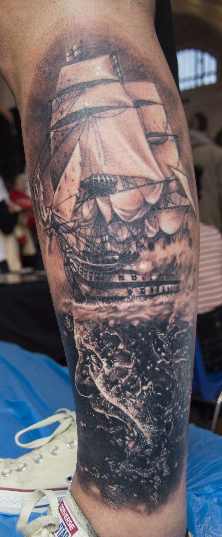 Made by Brown & Black Tattoo Studio (Ljubljana, Slovenia) at the Trieste Tattoo Expo 2016