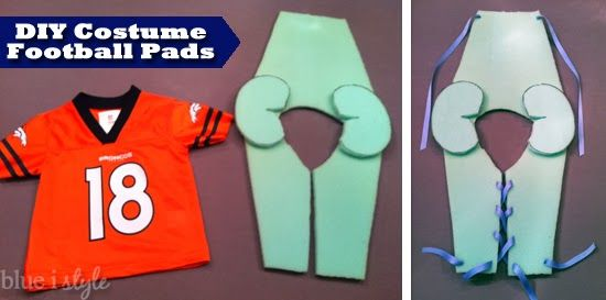 Simple instructions for creating DIY costume football pads. {blue i style}