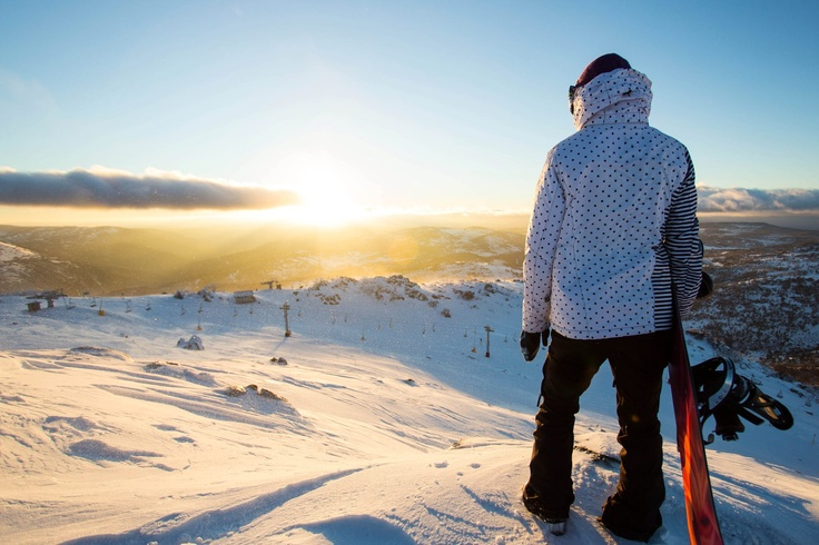 Snow Australia - stopping to take in the view over Blue Cow, Perisher Resort, New South Wales #snowaus