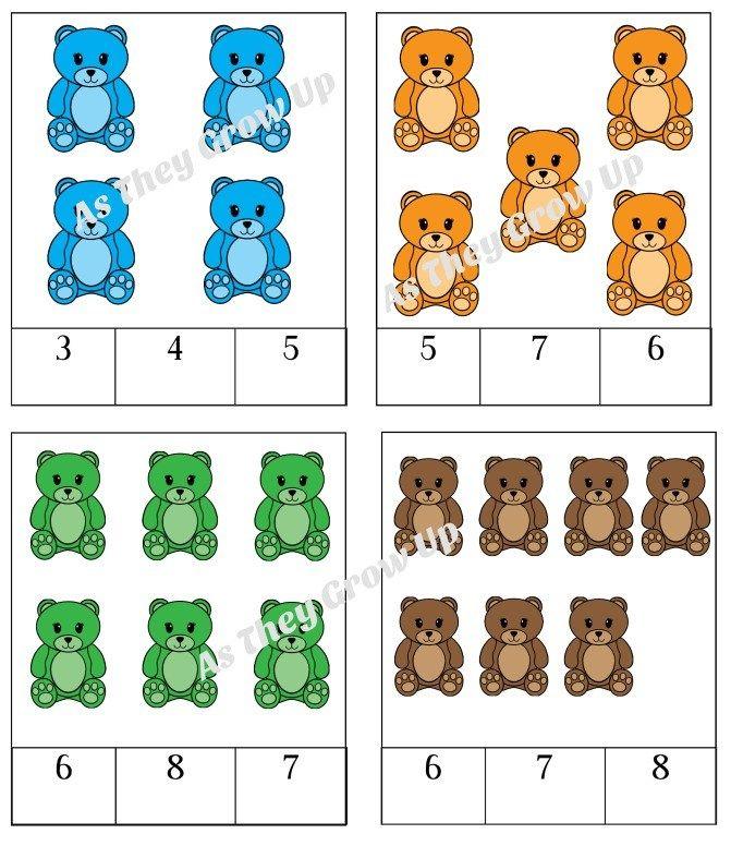 Counting Bears Printable Counting Bears Winter Theme Preschool Sorting Mats