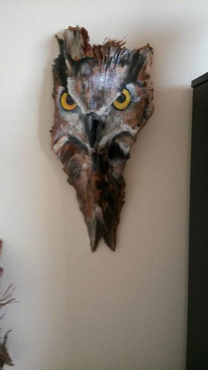 """painted frond """" the owl"""" - PaintedPalmsbyPenn"""