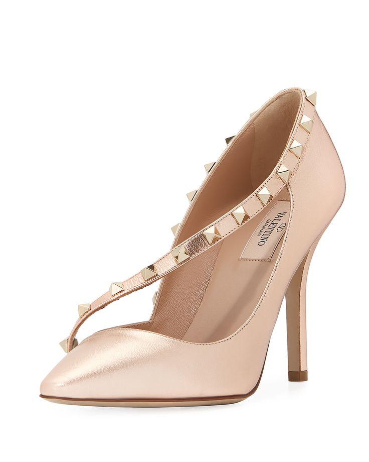 ROCKSTUD ASYMMETRIC - Valentino Bridal Shoes: Vows in Rockstud Style https://www.loveandlavender.com/2018/01/valentino-bridal-shoes/