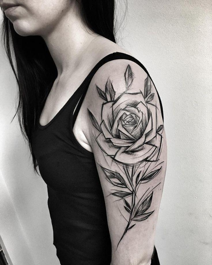 японии объявили тату в стиле скетч розы фото практически ничем отличается