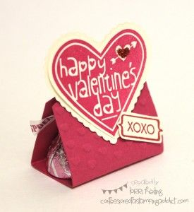 Valentine Treat with Hugs and Kisses inside