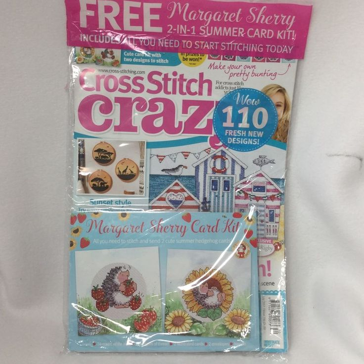 Cross Stitch Crazy British UK Magazine July 2017 230 Margaret Sherry New Sealed