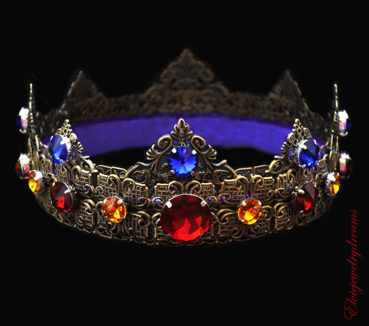 Dolce Men Crown Bronze Crown Male Crown by Elviejewelrydreams