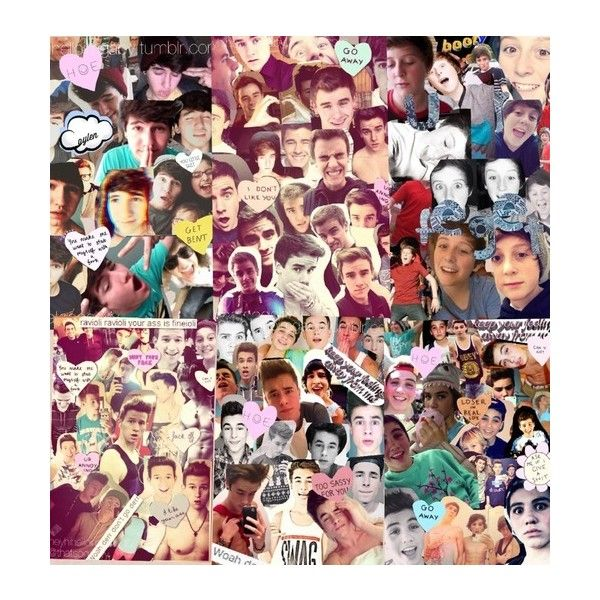 collage of my o2l collages ❤ found on Polyvore