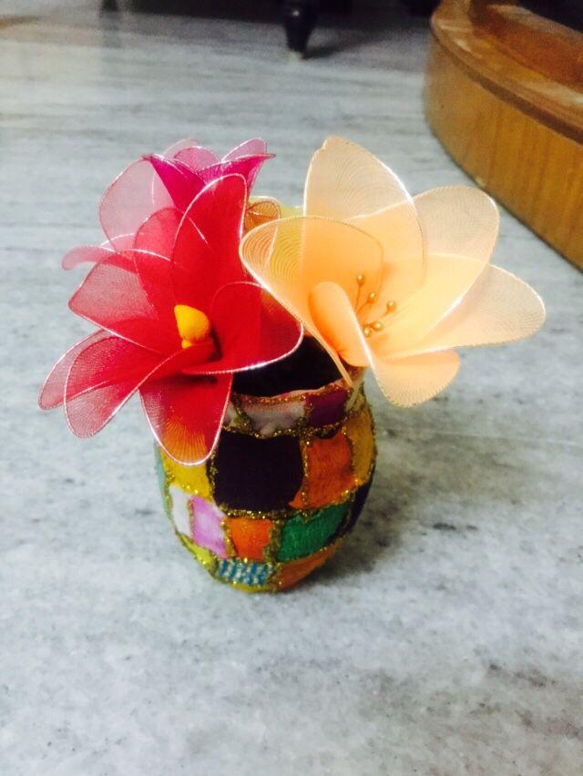 DIY sock cloth flowers